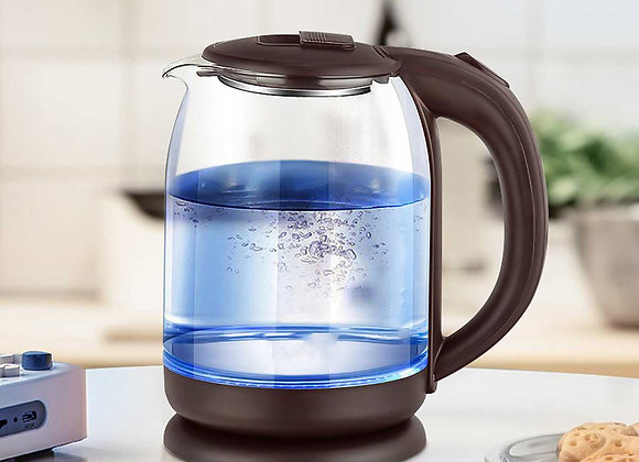 1500W 220V 2L Glass Electric Kettle Off Automatically Auto-Power Off Household