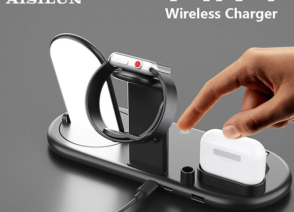 10w Wireless Charger for iPhone 11Pro XR XS MAX Fast Wireless Full Load 7 in 1