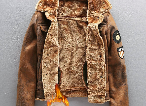 2020 Pu Jacket Men Thick Warm Military Bomber Tactical Leather Jackets
