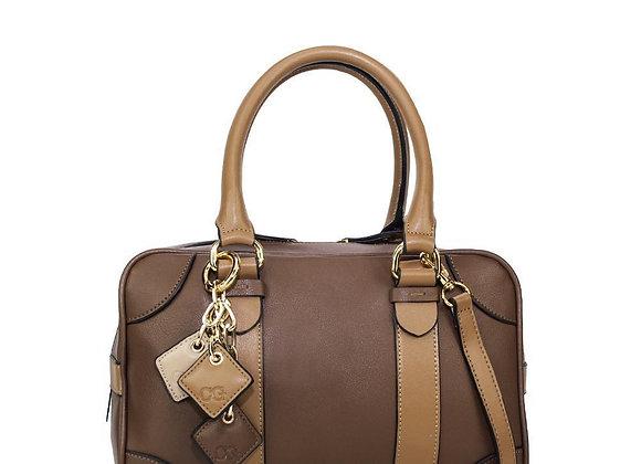 Carlotta Leather Handbag - Chocolate / Caramel
