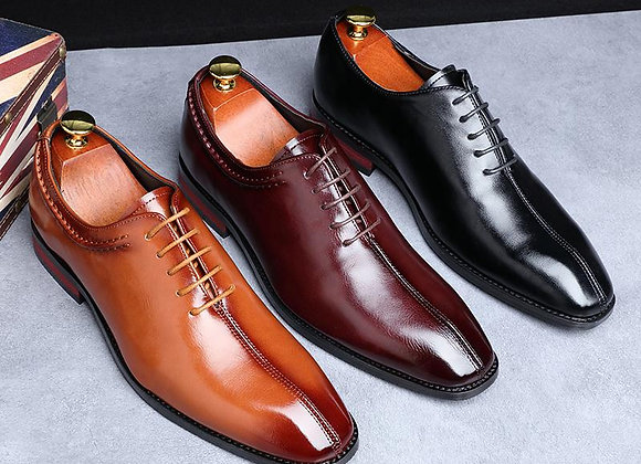 2021 New Men Dress Shoes Designer Business Office Lace-Up Loafers Casual Driving