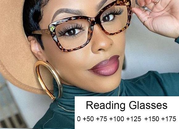 Anti Blue Light Computer Presbyopia Reading Glasses for Women Retro TR90 Ultrali