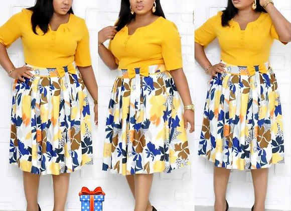 African Dresses for Women Print African Dress Africa Clothing Robe African