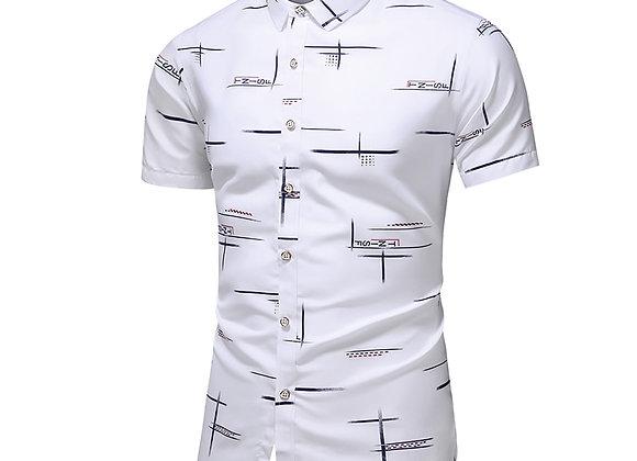 Fashion 9 Style Design Short Sleeve Casual Shirt Men's Print Beach Blouse
