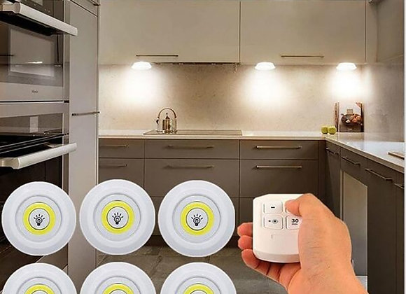 3W Super Bright Cob Under Cabinet Light LED Wireless Remote Control Dimmable
