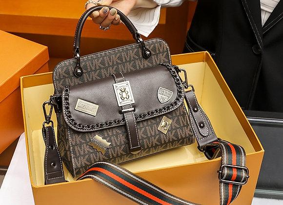 Brand Bag Women 2020 New Luxury Badge Women's Bag Printing Luxury Leather Small