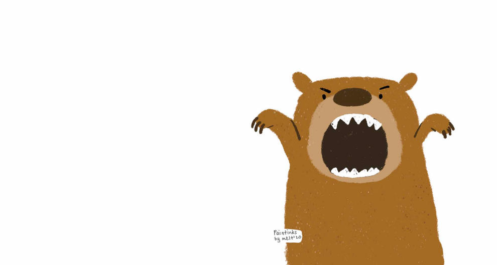 Growly bear background for zoom