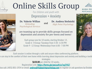 Online Coping Skills Group Starting Soon!