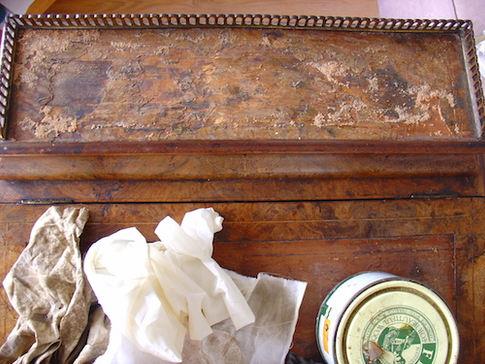 Davenport desk requiring restoration
