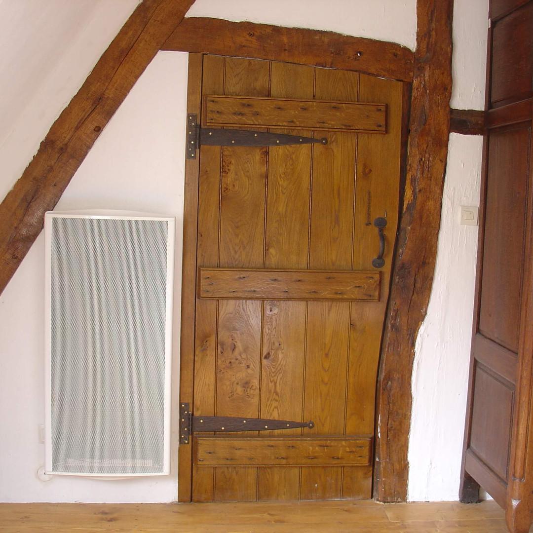 antique effect oak door