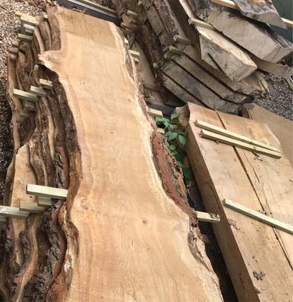 sliced french oak boards