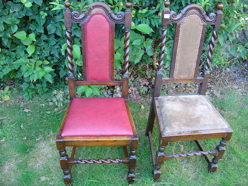 restored chair with new upholstery