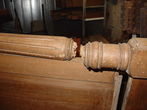 beech antique french bed