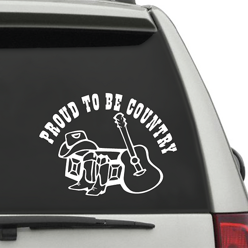 Decal - Proud to be Country