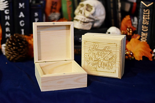 Wooden Box - Something Wicked