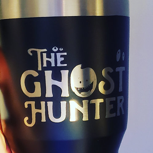 "Double Insulated Ozark Trails 30 oz travel mug ""The Ghost Hunter"""