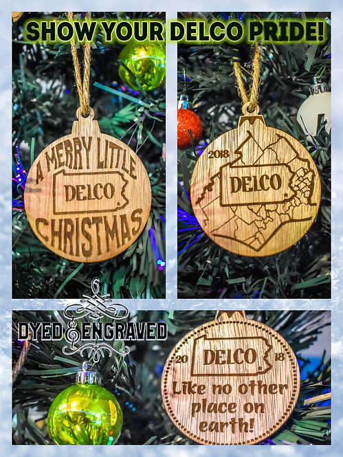 Delco Christmas Ornament 3 Pack!