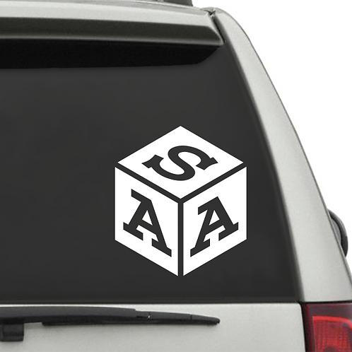 Cube Monogram  (Last Initial on Top)