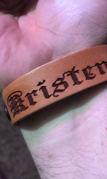 Genuine Leather Bracelet - Custom Engraved