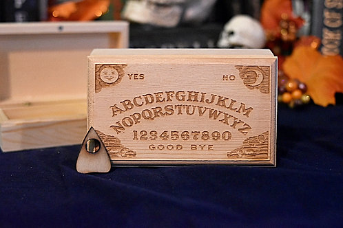 Wooden Box - Ouija Board W/ Planchette