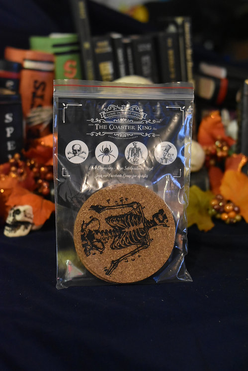 Spooky Coasters - Laser Engraved