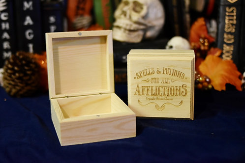 Wooden Box - Spells and Potions