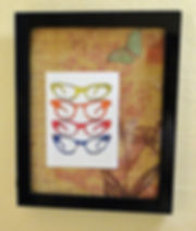 You can create, Framed note card with decorative paper.