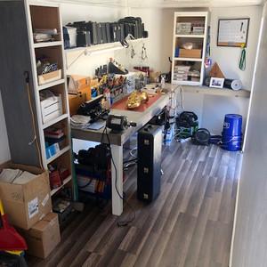 Mobile Repair Shop Interior