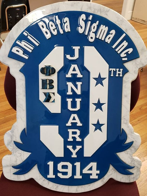 Custom Founders Day Plaque 2 foot