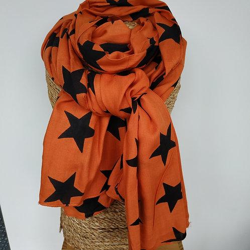 Foulard étoile orange
