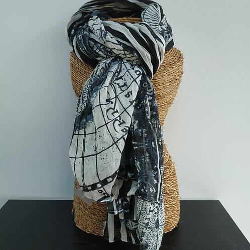 Foulard noir & blanc