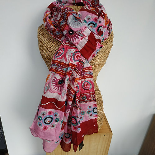 Foulard rose sequin