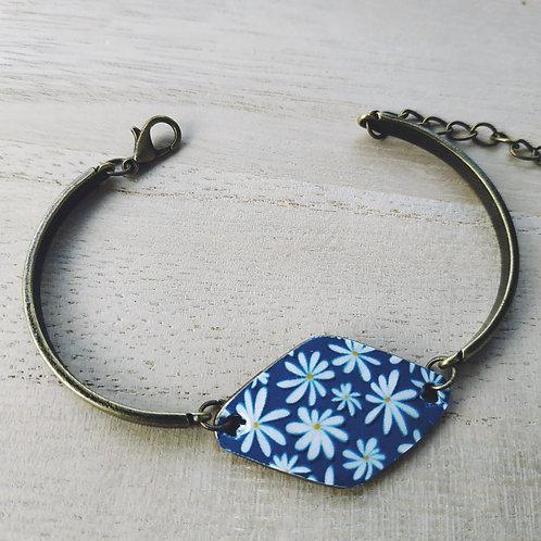 Bracelet semi rigide losange couleur bronze