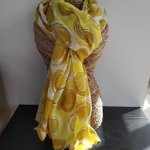 Foulard pois à reflets dorés / argentés