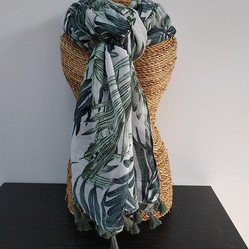 Foulard motifs feuillage