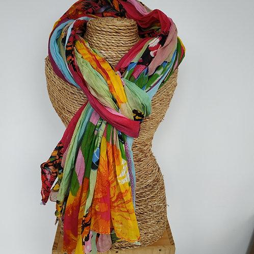 Foulard papillon multicolor