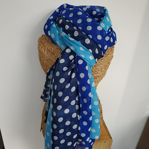 Foulard pois bleu