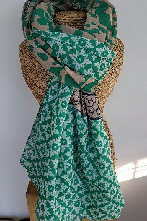 "Foulard coton ""vert"""