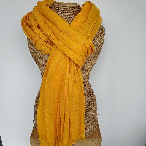 Foulard jaune à pois