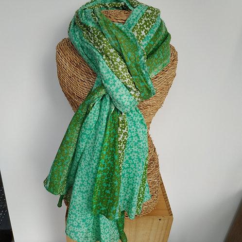 Foulard petite fleur vert