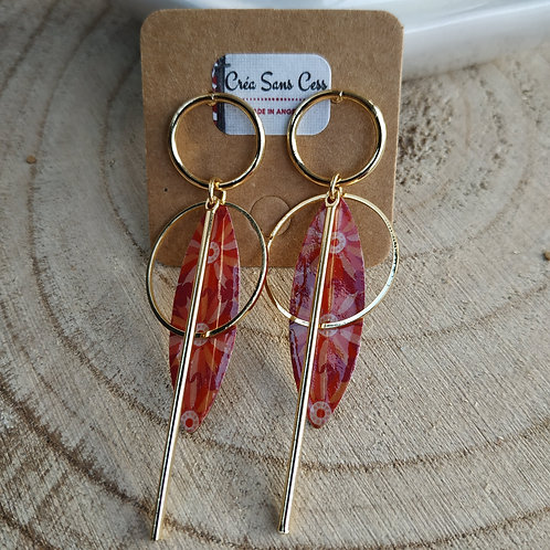 """Boucles d'oreilles """"KAALY""""- OR"""