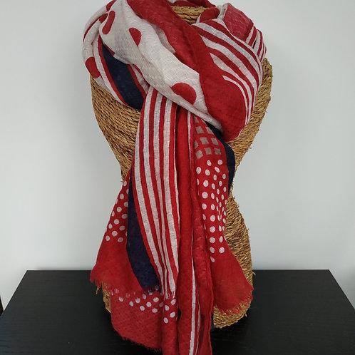 Foulard rouge et marine