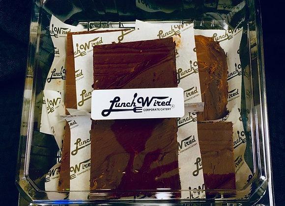 6 Triple Chocolate Fudge Brownies
