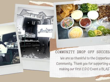 Community Drop Off Success!