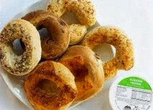Bagels-Mini Deal- 6 bagels with 1 8oz. Cream Cheese