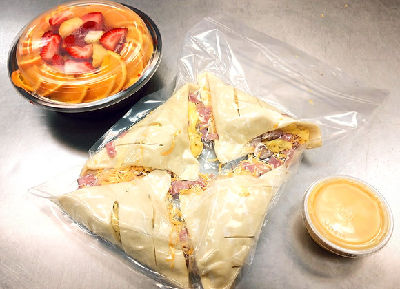 DIY Breakfast Turnovers w/Fruit Salad