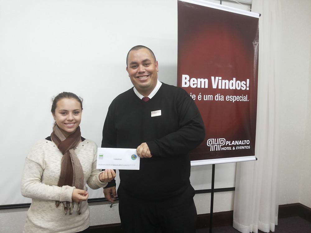 Pedro Carlos Ienke foi o sorteado, e como prêmio ganhou um jantar em um restaurante de comida asiática da cidade.