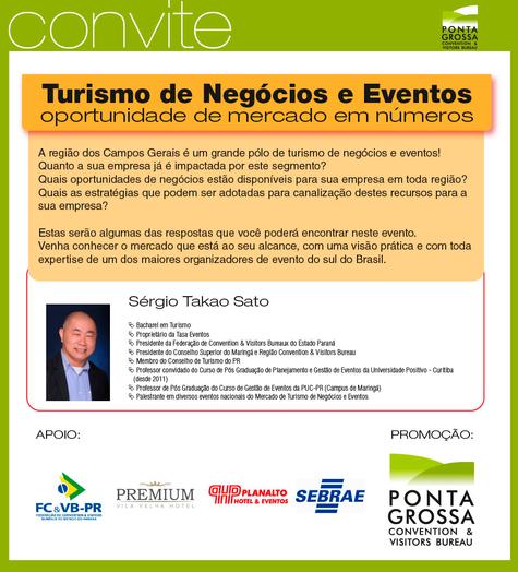Turismo de Negócios e Eventos é tema de palestra em Ponta Grossa