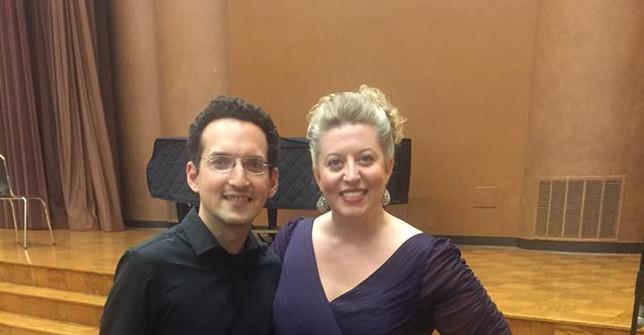 Laura Strickling, soprano; and Daniel Schlosberg, piano