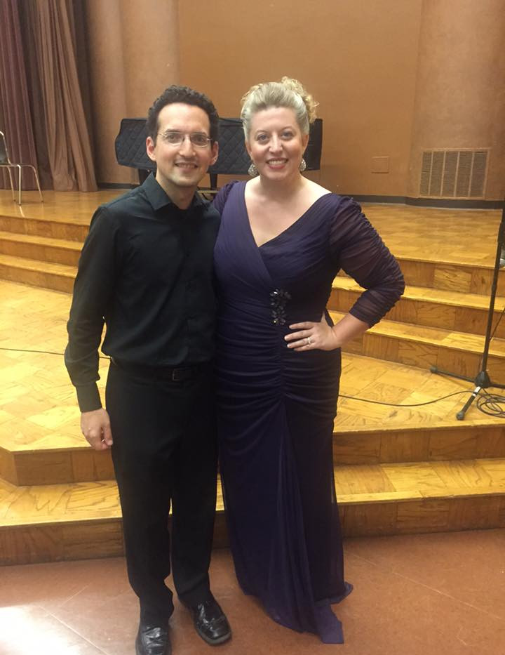Laura Strickling, soprano; and Daniel Schlosberg, piano